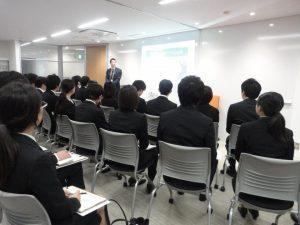 営業部二戸君はダイワの企業理念を学生に伝えました!
