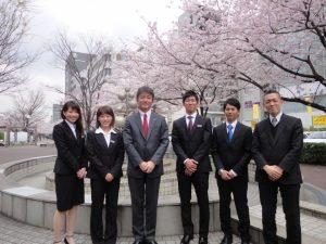 新しいダイワの仲間です!右から、山口係長、外山君、暮沢君、私、柏熊さん、伊藤さんです!