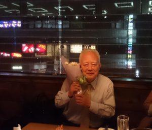 喜寿は紫でお祝いします!紫をテーマとした花束を贈りました!