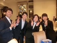 内定者の皆さん(左から高橋くん、佐藤くん、加藤さん、本田さん)