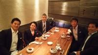 左から、松本さん、垣内さん、今野さん、曽根、緒方さんです。あっという間の2時間でした!