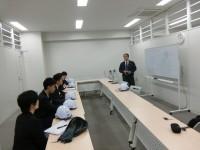 横浜本牧営業所。沖縄の店舗への配送について、わかりやすく説明していただきました。