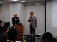 田中企業交流委員長より開会の挨拶頂きました。
