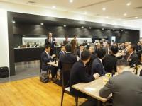 懇親会は池田会長のご挨拶から始まりました。