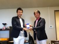 準優勝の大須賀君と!いい笑顔だね!おめでとう!